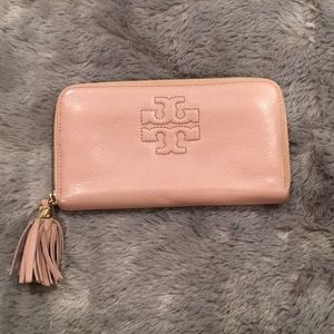 Tory Burch Zip wallet - porcelain pink